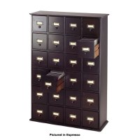 Leslie Dame Library Style Multimedia Storage Cabinet ...