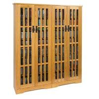 Leslie Dame Mission Style Multimedia Storage Cabinet Oak M ...