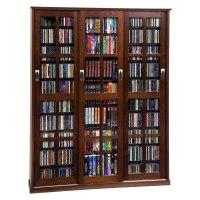 Leslie Dame Multimedia Storage Cabinet Walnut MS-1050W