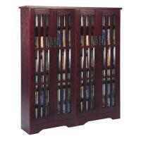 Leslie Dame Mission Style Multimedia Storage Cabinet Dark ...