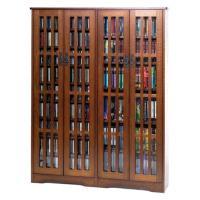 Leslie Dame Mission Style Multimedia Storage Cabinet ...