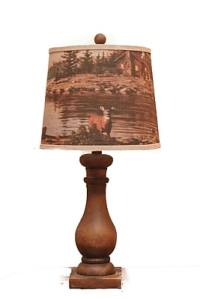 AHS Lighting Lehigh Table Lamp With Scenic Deer Shade ...