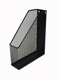 Buddy Products Single Mesh Magazine File Holder, Black ...