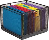 Staples Collapsible Black Wire Mesh File Box | Staples