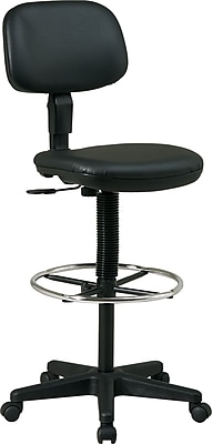 Office Startm Faux Leather Drafting Chair Black Staplesr