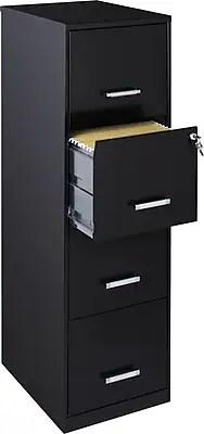 "Office Designs Vertical File Cabinet, 18"" Deep, 4-Drawer ..."