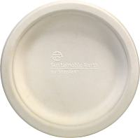 "Staples Sustainable Earth 6"" White Compostable Plates ..."