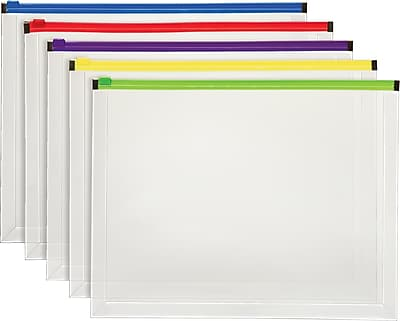 Us Paper Sizes Letter Legal Paper Format Dimensions Staples174; Plastic Envelopes With Assorted Color Zippers