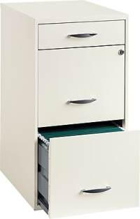 Office Designs 3-Drawer Utility File Cabinet, White | Staples