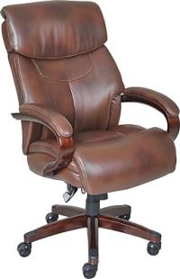 La-Z-Boy Bradley Leather Executive Office Chair, Fixed ...