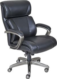 La-Z-Boy Nexus Leather Executive Office Chair, Fixed Arms ...