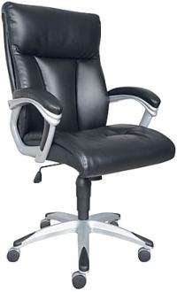 Sealy Burano Bonded Leather Executive Chair, Black | Staples