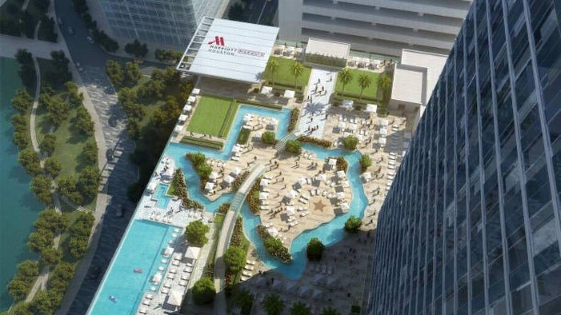 3d Mirror Wallpaper Lazy River In The Shape Of Texas Atop Marriott Marquis