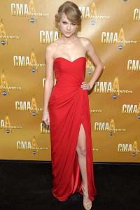 Taylor Swift Prom Dress CMA Red Carpet Strapless ...