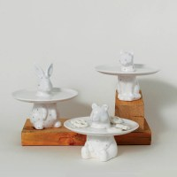 Menagerie Rabbit Decorative Serving Plate - Cake Stand ...