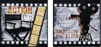 """""""Action!"""" and Big Motion Picture Framed Theater Wall Art"""