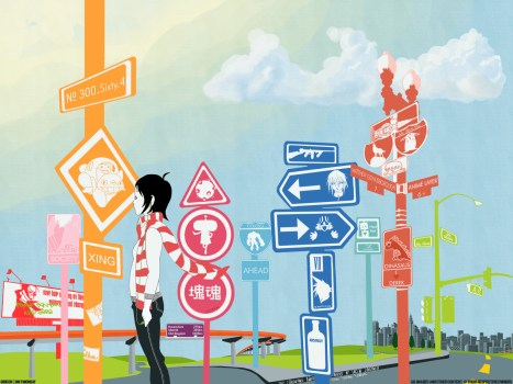 Anime Street Signs