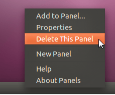 ubuntu - delete this panel