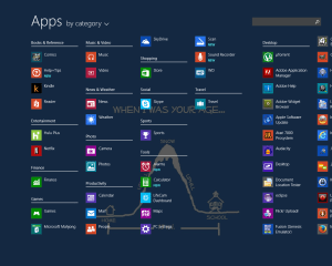 Windows 8.1 Start menu - all apps