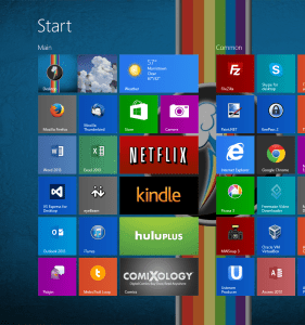 windows 8.1 - start screen colors