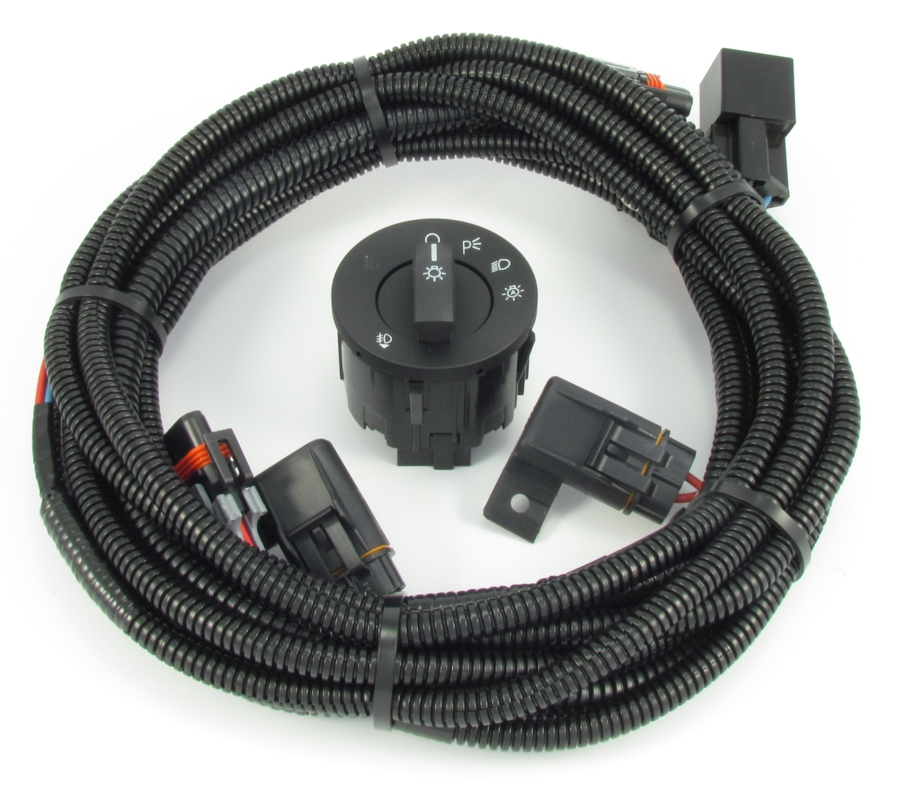 Mustang Fog Light Wiring  Switch Kit - Fits V6 and Boss 302 (2010