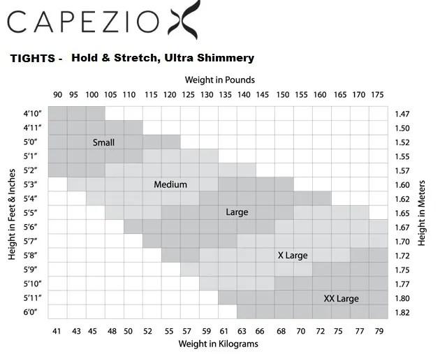 Capezio Adult 1881 Stirrup Shimmer Tights - Starlite Direct
