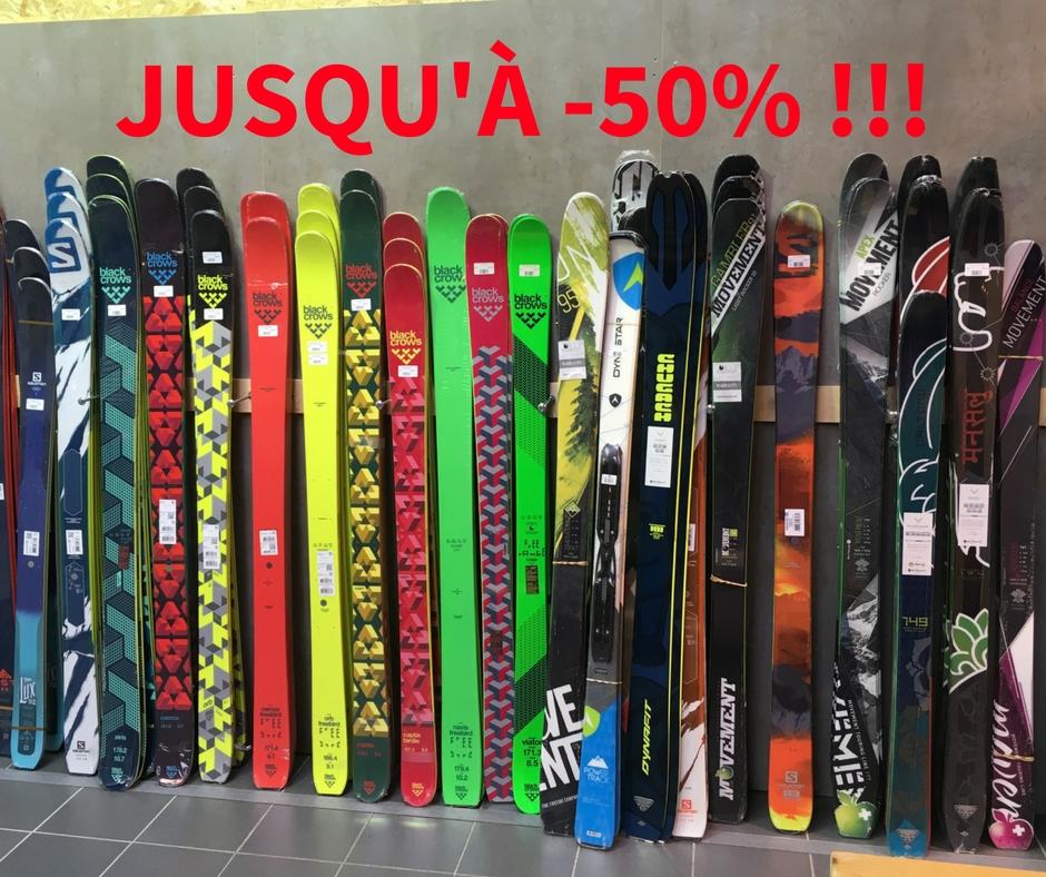 Jusqu'à 50% sur les skis de l'année dernière!!!(1)