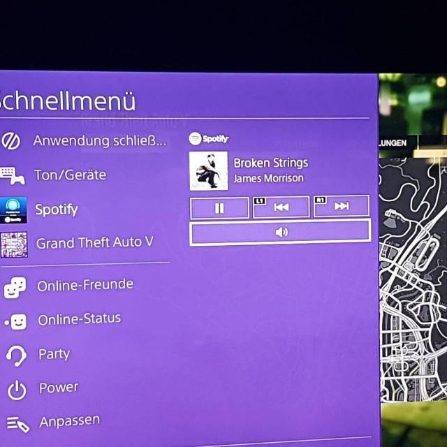 Spotify und GTAV eine interessante Mischung PS4 Beta PlayStation