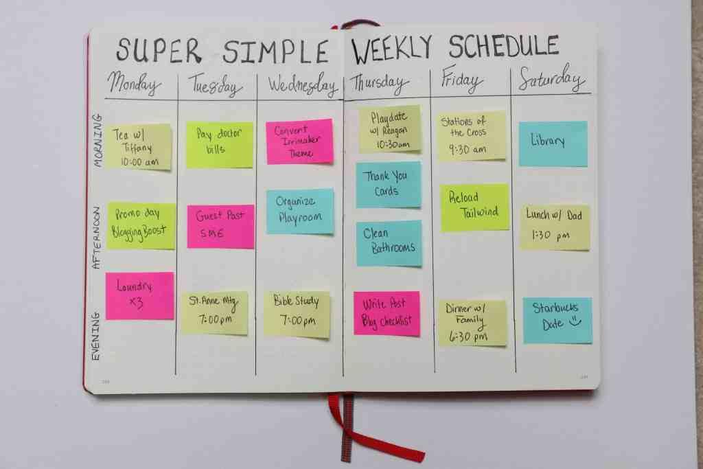 super simple weekly schedule leuchtturm1917 bullet journal www.startamomblog.com