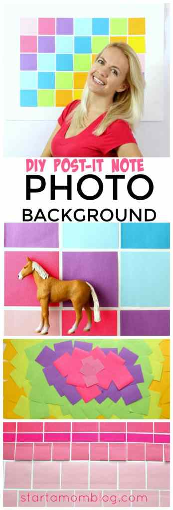 DIY Post It Note Photo Background