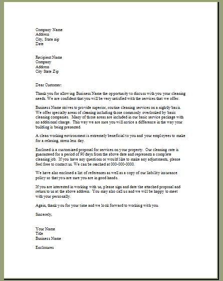 Cleaning business proposal letter sample resume pdf download cleaning business proposal letter sample sample business proposal letter deiric mccann step 7 business forms start altavistaventures Gallery