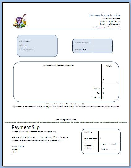 Step 7 Business Forms - Start a Commercial Cleaning Business - bid proposal template word