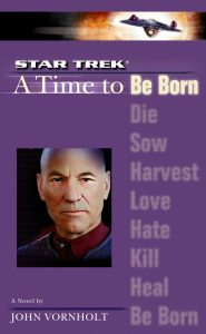 """Star Trek: The Next Generation: 1 A Time To Be Born"" Review by Literary Treks"