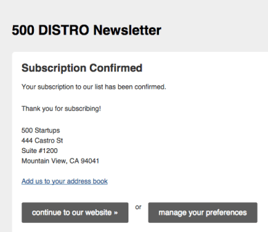 500 Distro email marketing