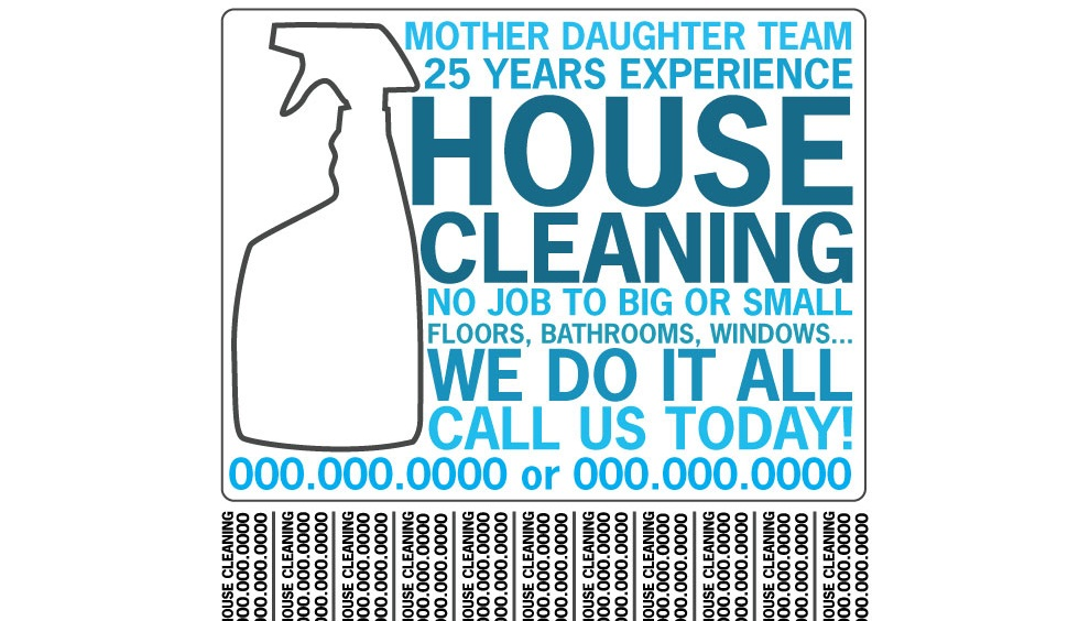 house cleaning flyers examples - Militarybralicious