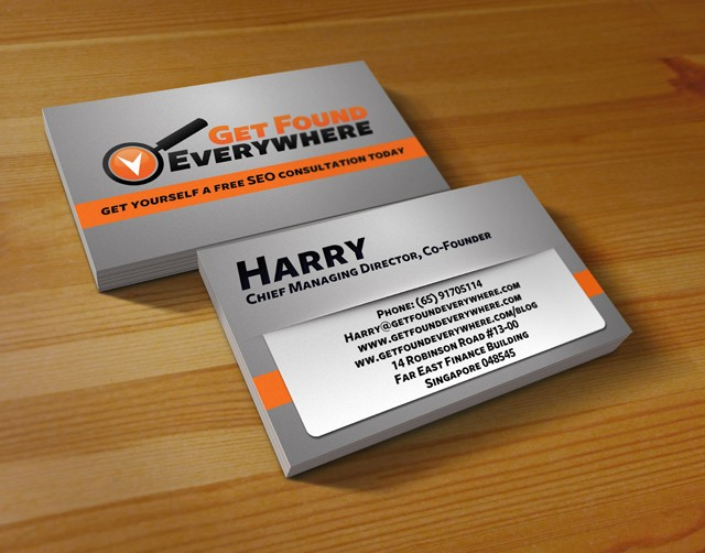 SEO Business Card Samples  Examples StartupGuysnet - business card sample