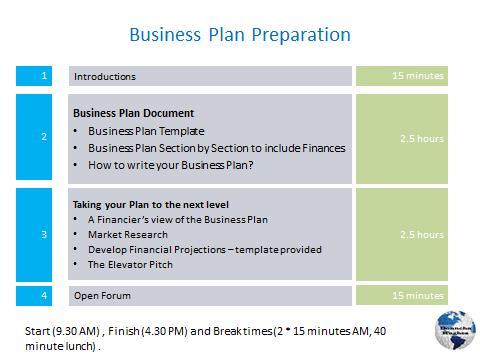 Business Plan Workshops - - professional business plan