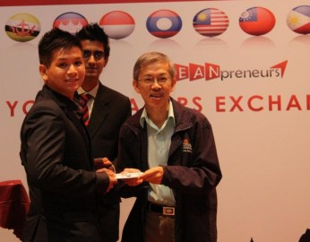 Albert Mai Involvement at ASEANpreneurs Singapore 2012 with Prof. Wong Poh Kam