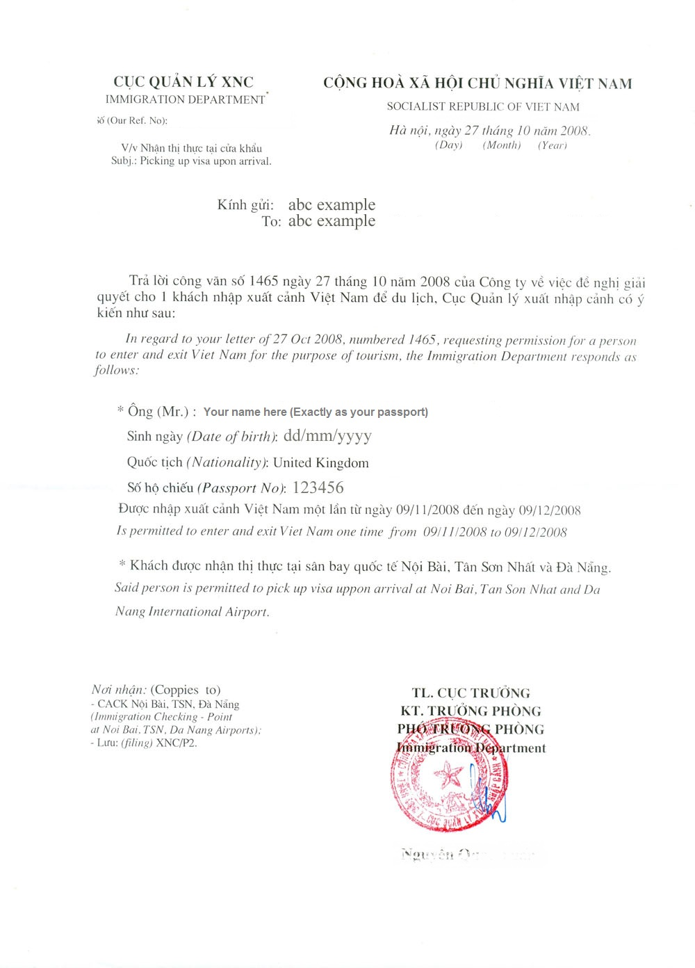 Business Recommendation Letter Recommendation Letter Business Visa
