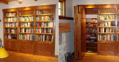 Secret Bookcase Door Swing Out Stashvault