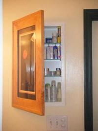 Concealed Bathroom Cabinet Behind Picture Frame Door ...