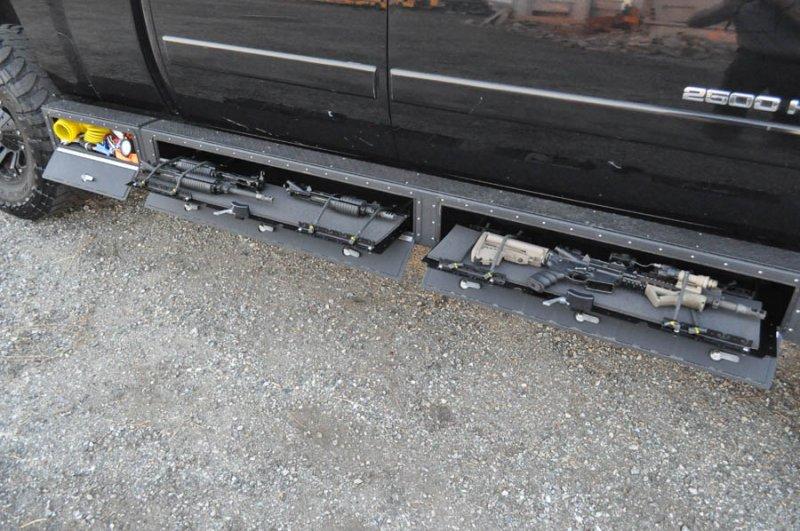 Hidden Gun Storage In Truck Rocker Panel Stashvault