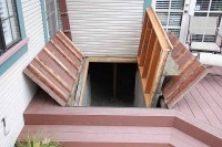 Cellar Accessed Under Hidden Door in Deck | StashVault