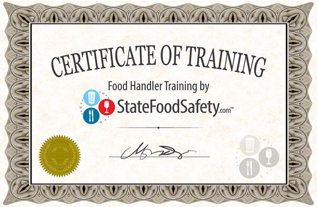 Food Handlers Card  Safety Permit Online StateFoodSafety