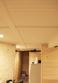 Our Basement Part 38: The Beadboard Ceiling is White & The ...