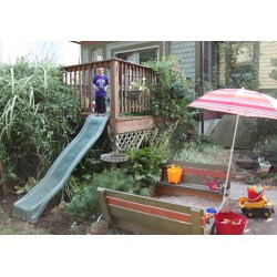 Dashing A Deck Ly Kitsch Est Backyards Kids Sam How To Install A Slide Off outdoor Coolest Backyards For Kids