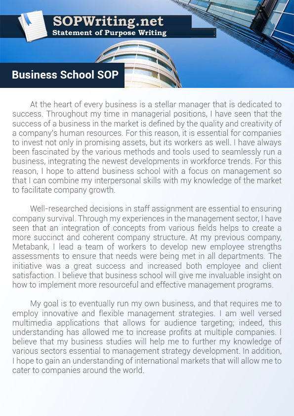 How to Write Statement of Purpose Business School