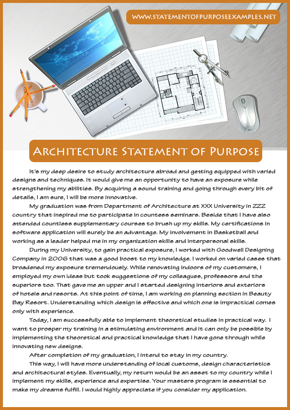 How to write a successful Architecture Statement of Purpose Sample - Sample Of Statement Of Purpose
