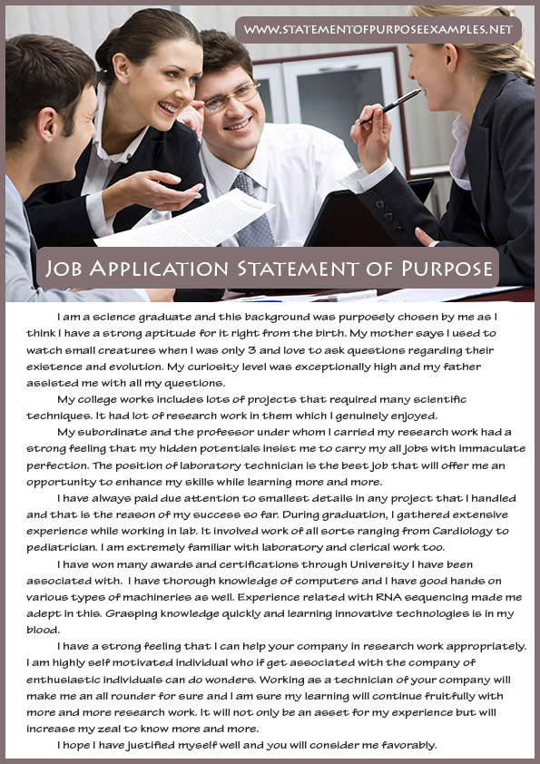Application For Employment Wikipedia What Is The Best Way Of Writing Statement Of Purpose