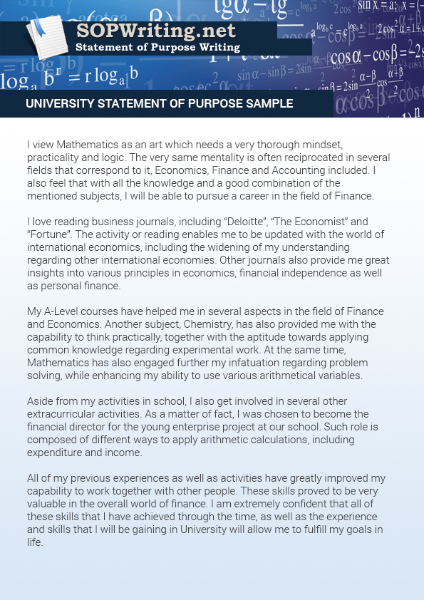 How to Use University Statement of Purpose Sample Statement of - Sample Of Statement Of Purpose